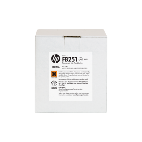 HP FB251 2-lt White Scitex Ink